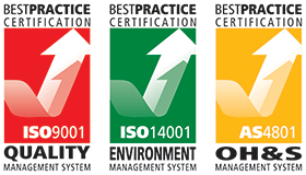 Best Practice Certification ISO9001 ISO14001 ISO4801 Quality Management System